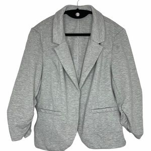 Candies Jr XL Ruched Sleeve Open Front Knit Blazer